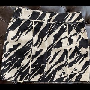 Zebra print Michael Kors mini skirt